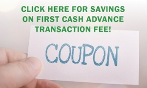 Save with coupon on payday loan