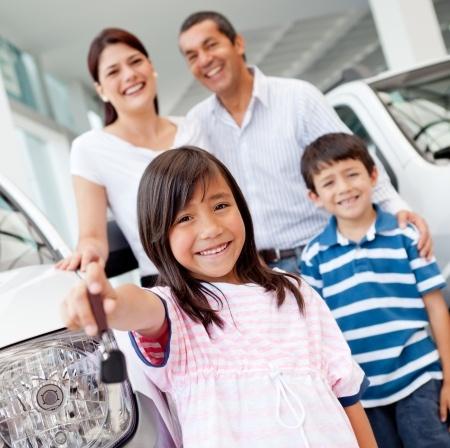 family-with-car-keys